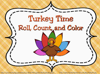 http://www.teacherspayteachers.com/Product/Turkey-Roll-Count-and-Color-949168