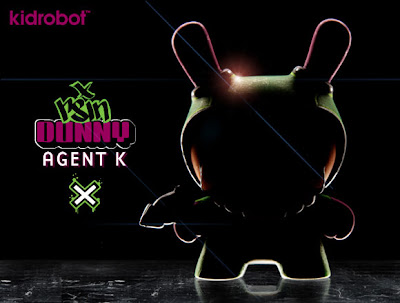 "Kidrobot Teaser Image: New York Comic-Con 2012 Exclusive Agent K 3"" Dunny by Rsin"