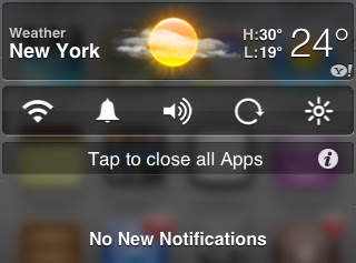 transparent iphone notification center