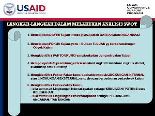 Konsep Dasar Analisis SWOT, Langkah-Langkah dalam Analisis SWOT, Impementasi Analisis SWOT