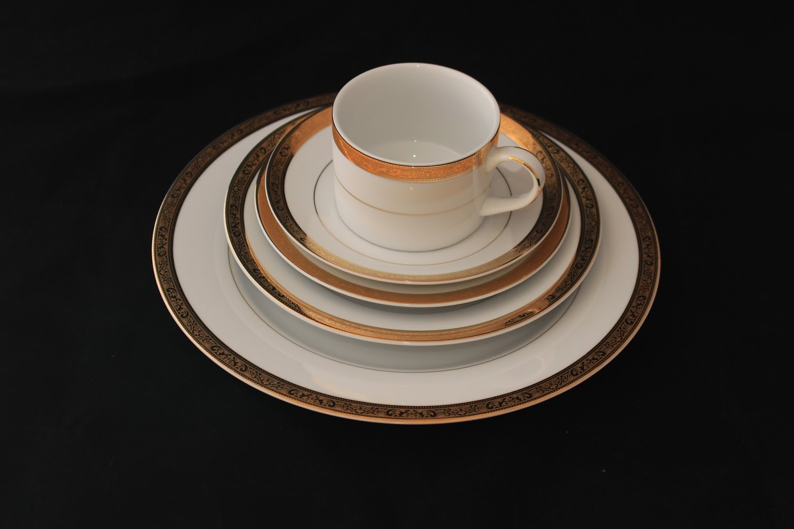 Dinnerware Imperial Gold China & Dinnerware: Imperial Gold China - USA Party Rental