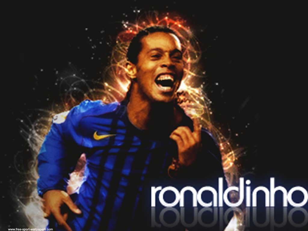 Ronaldinho and His Wife