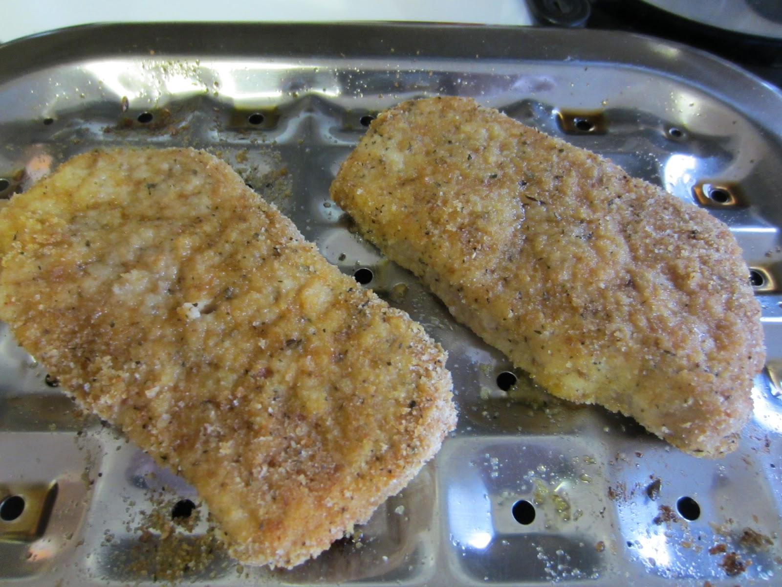 My Patchwork Quilt: OVEN FRIED PORK CHOPS