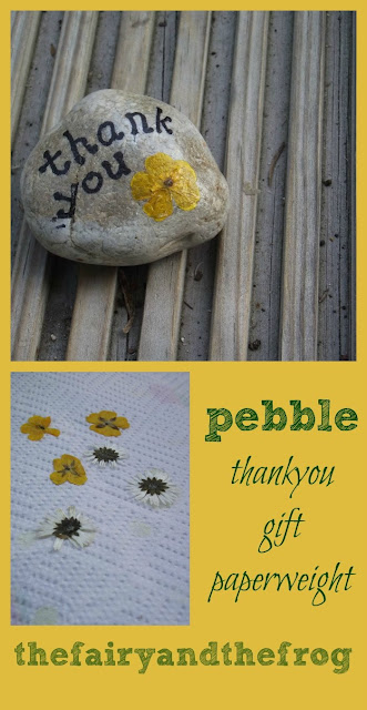 handmade pressed flower gift