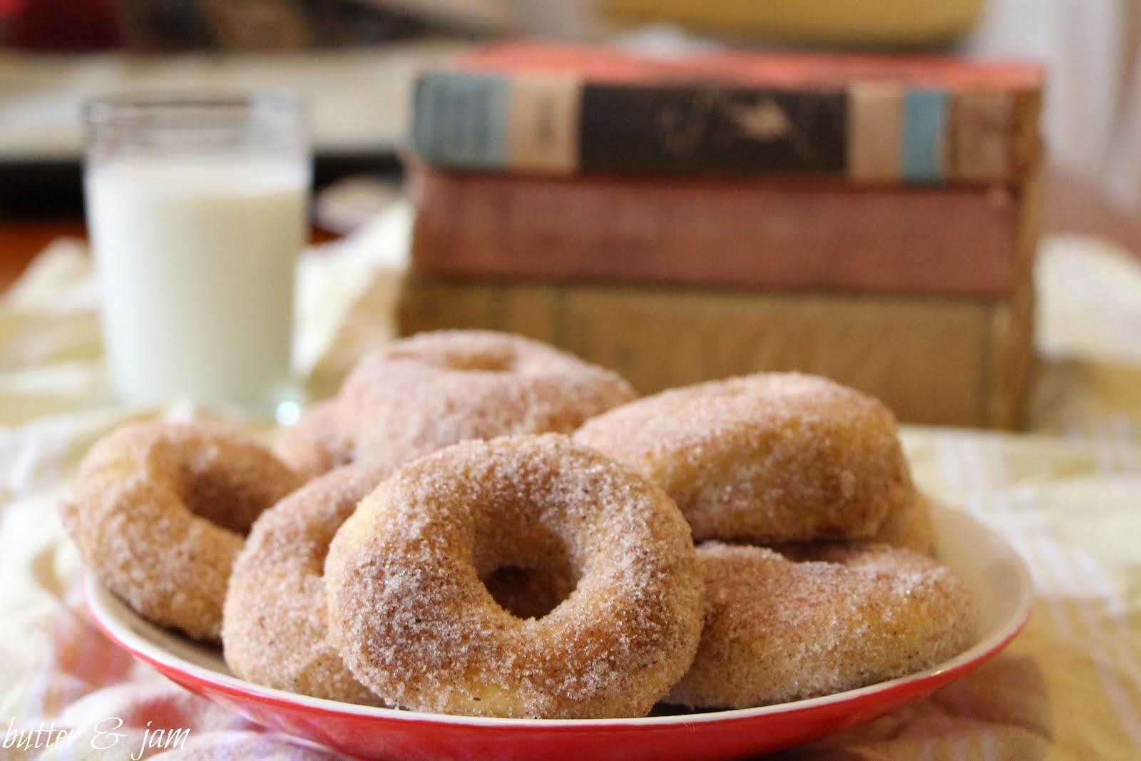 cinnamon + sugar doughnuts