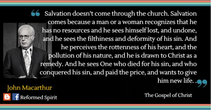 John Macarthur Quotes Glamorous Salvation Doesn't Come Through The Church  Drjohn Macarthur