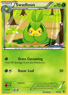 Swadloon #6/98 Emerging Powers Pokemon Card