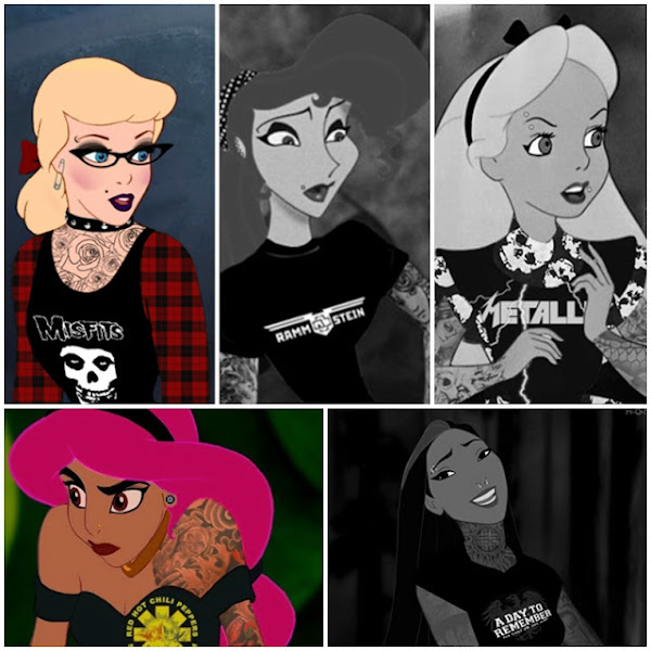 Disney Characters with Tattoos and Piercings