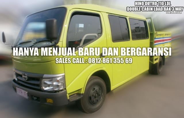 Hino Dutro 110 LDL Double Cabin Load Bak 3 Way