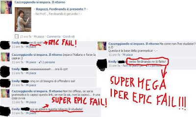 errori grammaticali su facebook