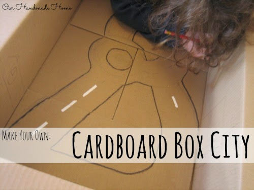 Make a Cardboard City - Our Handmade Home