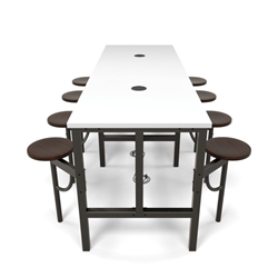 Powered Table with Stool Seats