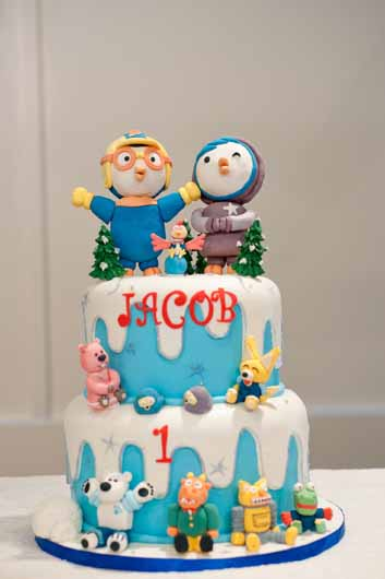Jacob S Pororo 1st Birthday A Cake Life