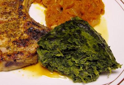 Cuban spinach casserole