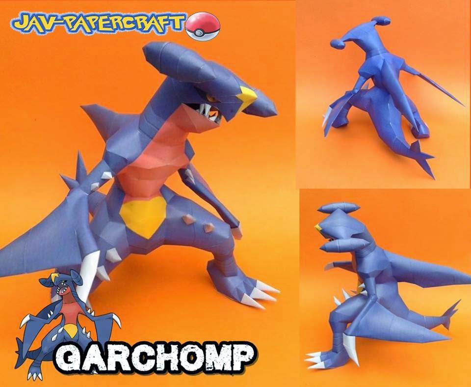 Garchomp Paper Model