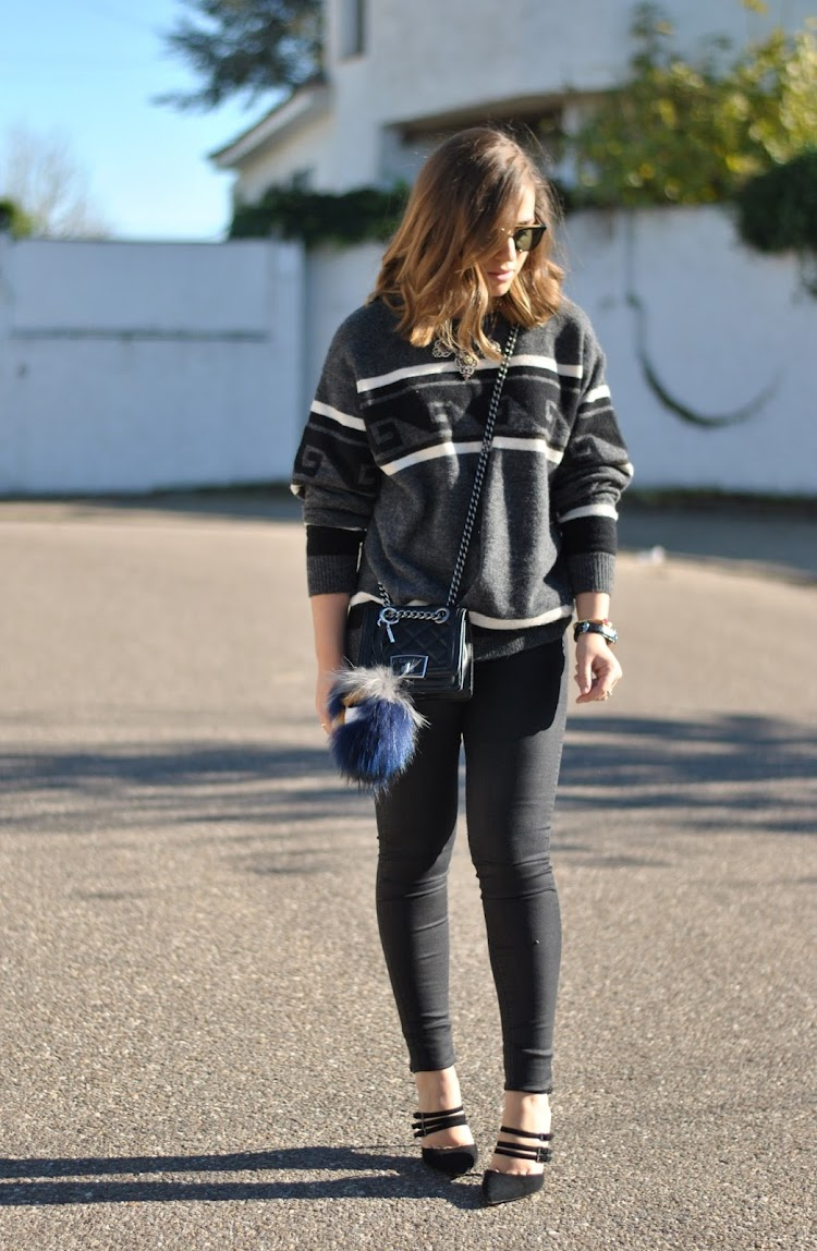 Cool grey sweater