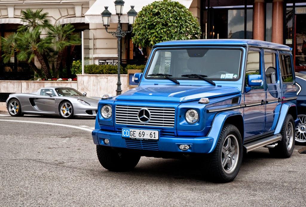Benztuning mercedes benz g55 amg designo mauritius blue for Blue mercedes benz