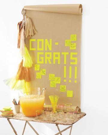 graduation craft ideas Martha Stewart wall diploma