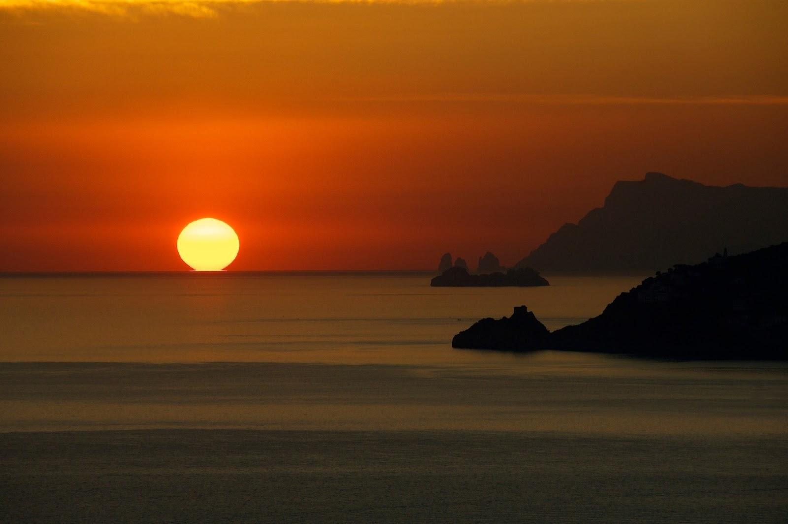 sunset sailing boats rocks - photo #27