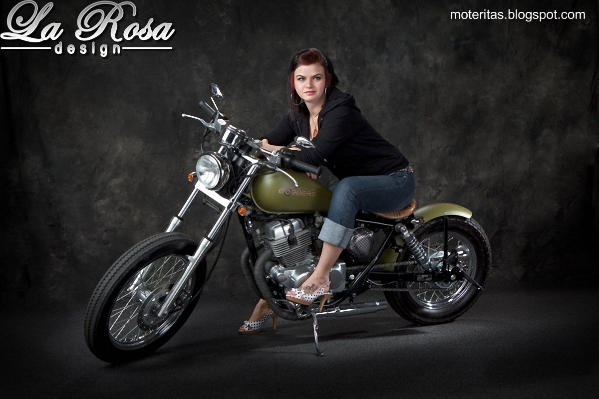 honda rebel 250 chicas moto
