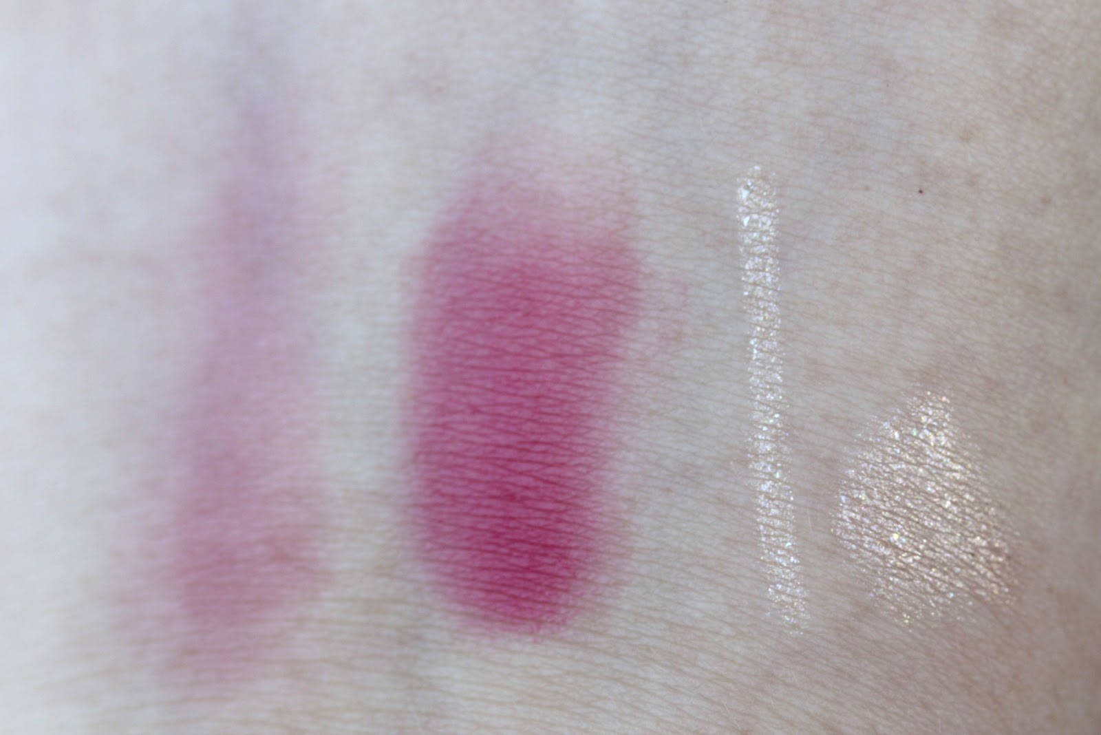 Ipsy Glam Bag January 2014 - First Impressions - Elizabeth Mott Smooth Shadow Creamy Eye Pencil in Pearl and Mica Beauty Cosmetics Tinted Lip Balm #06 in Fiesta swatches, indirect light | Manicurity.com