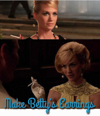 mad men tutorial betty draper how to 60s earring tutorial