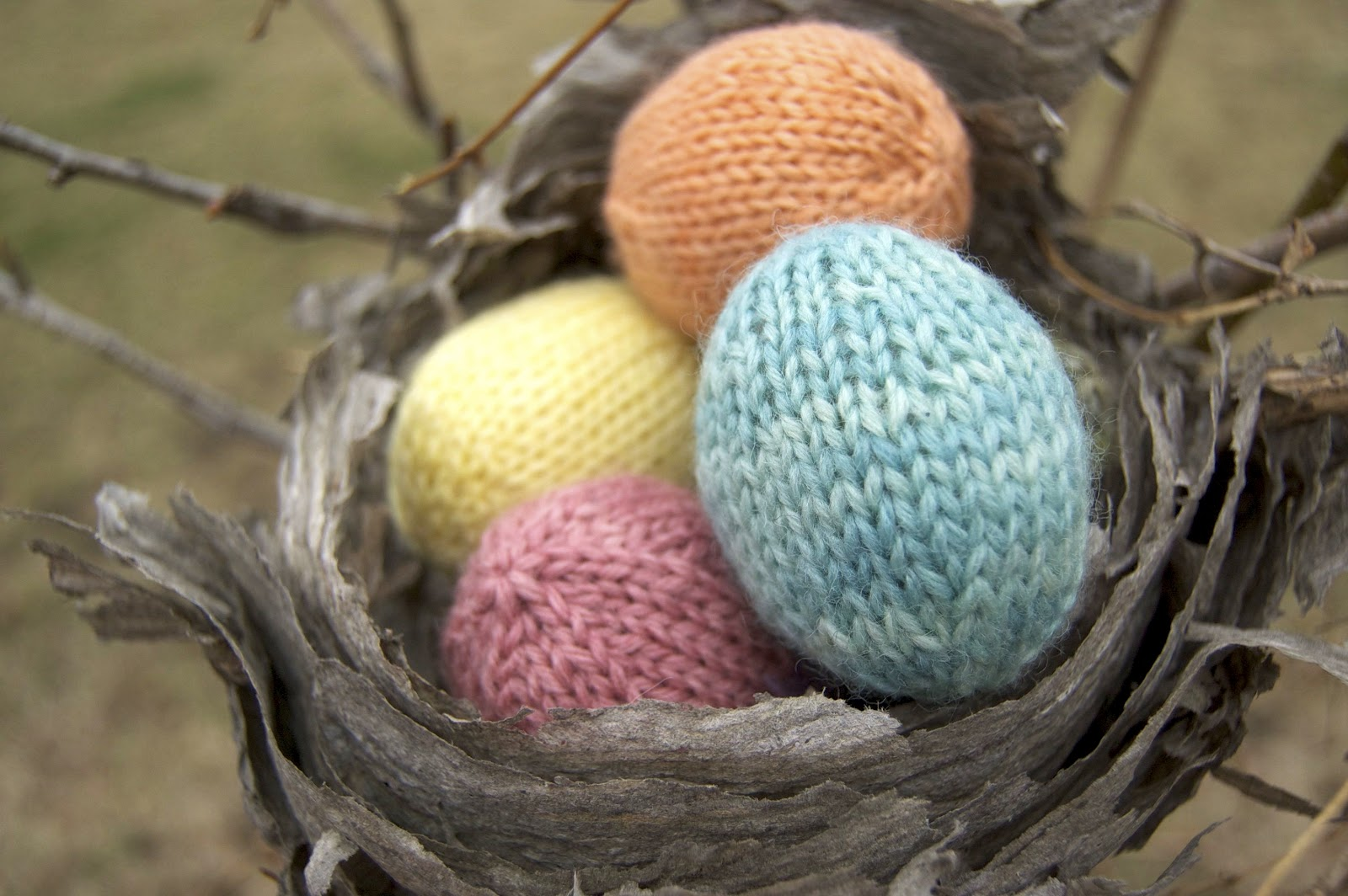 Knitting Easter Eggs : The sitting tree hand knit easter eggs and diy kits