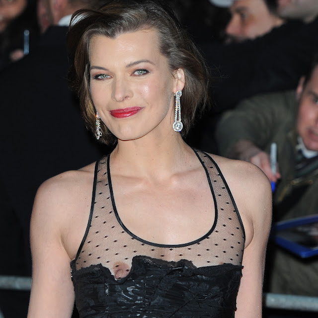 Milla Jovovich Nip Slip Nipple