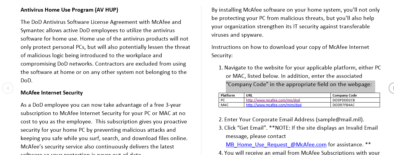 mcafee antivirus software free download for pc