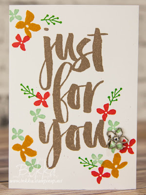 Card made with the Botanicals Just For You Free Stamp Set available from 5 January 2016 at www.bekka.stampinup.net