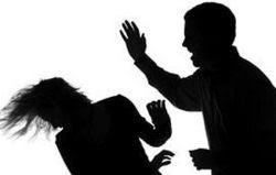 man hitting woman