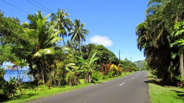 Route de ceinture à Tahiti