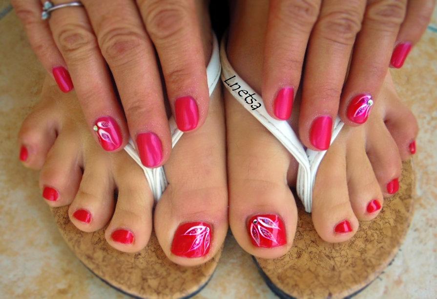 Lnetsa \'s nailart: Pedicure and simple short nails\' version