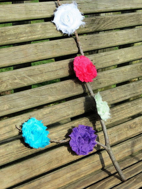 Country Baby Handmade Flower Hair Clips