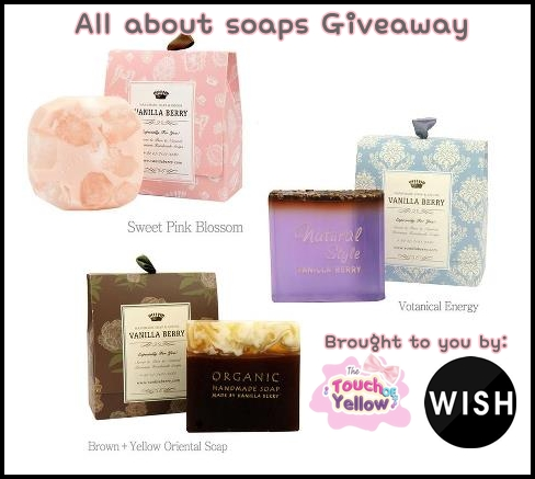 The Touch of Yellow x Wishtrend All About Soaps Giveaway