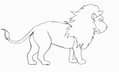 Easy Lion Drawing