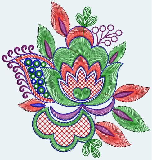 Traditionellen Stickerei Designer Quilt Fr Sari