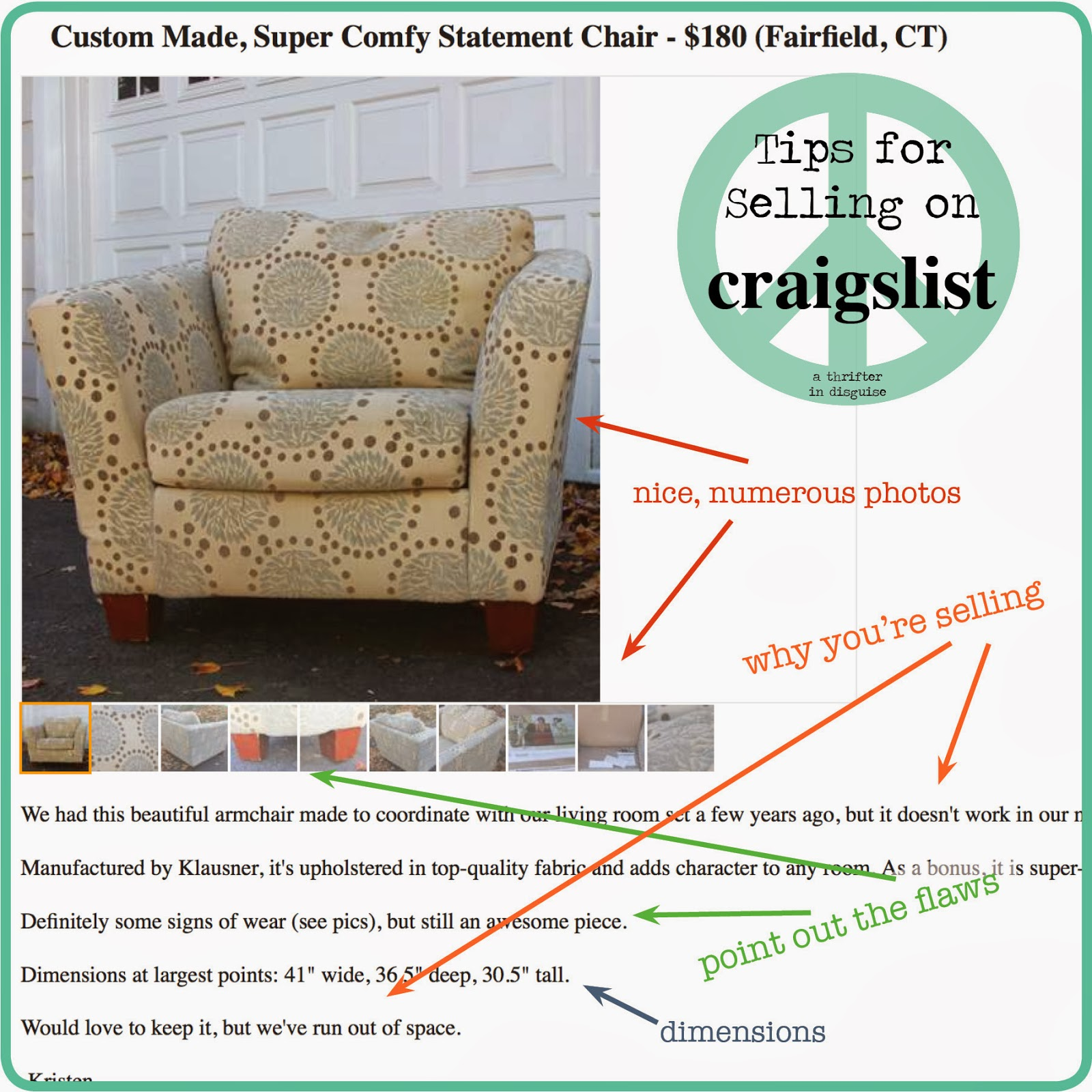 A Thrifter In Disguise Tips For Selling On Craigslist