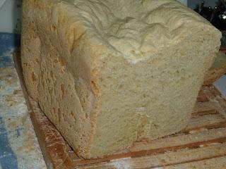 Pão Branco Italiano na máquina do pão