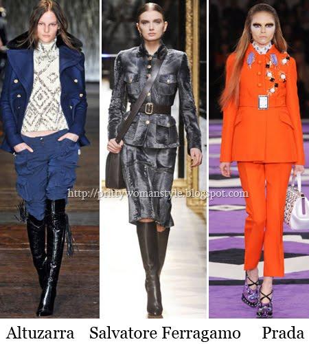 Милитари мода зима 2013