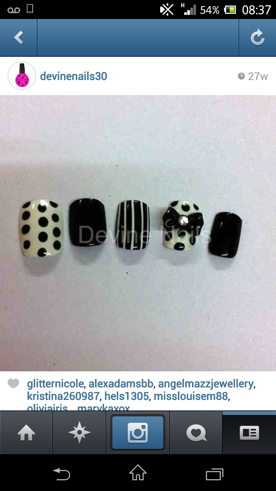 devine nails custom made hand painted stick on false nails instagram