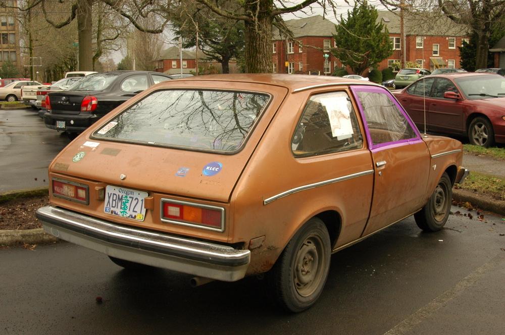 OLD PARKED CARS.: 1979 Chevrolet Chevette Hatchback.