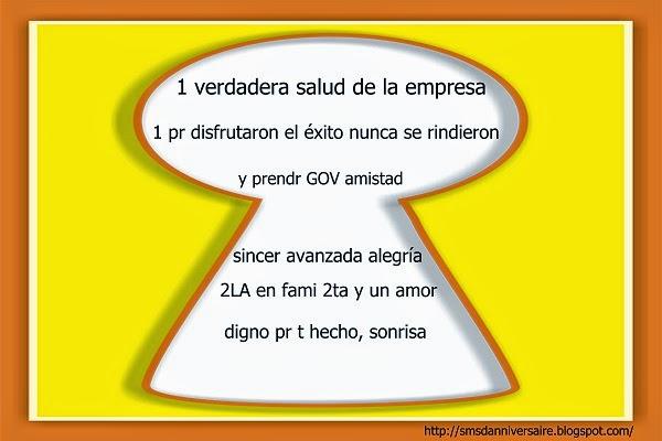 sms d'anniversaire en espagnol