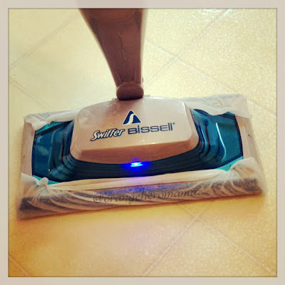 Loving my new Swiffer Bissell SteamBoost Mop! - QUICK #giveaway!