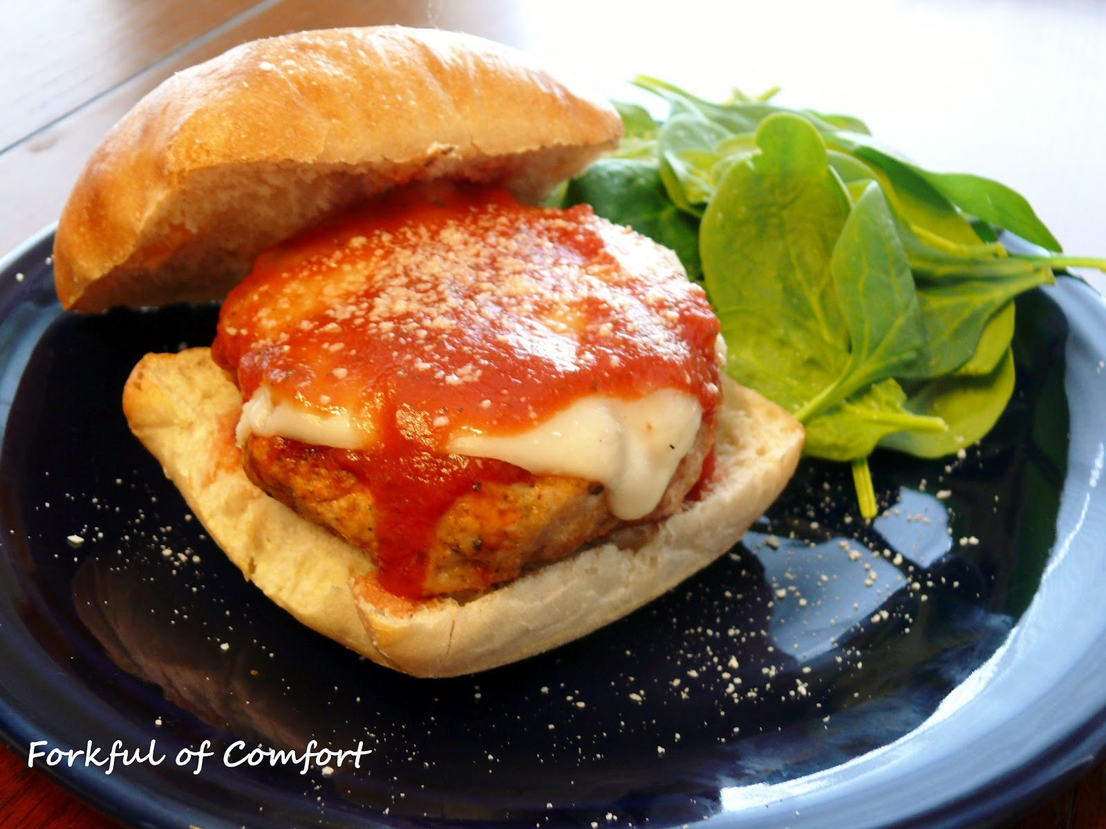 Forkful of Comfort: Chicken Parmesan Burgers