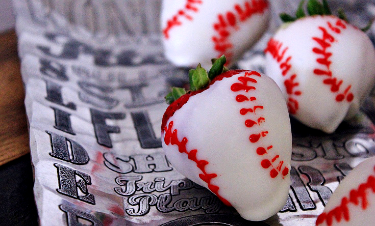 Baseball Strawberries on the Wendell August Language of Sports Baseball Chip and Dip Serving Dish. #ad