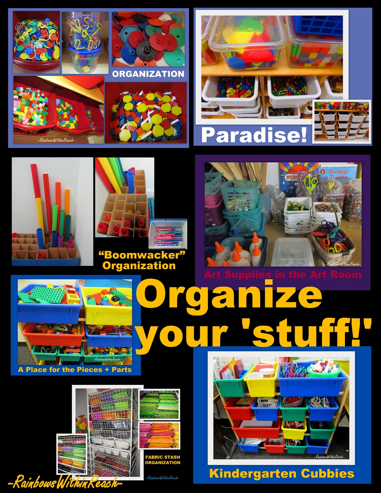 Classroom Storage Ideas ~ Organize your classroom materials drseussprojects