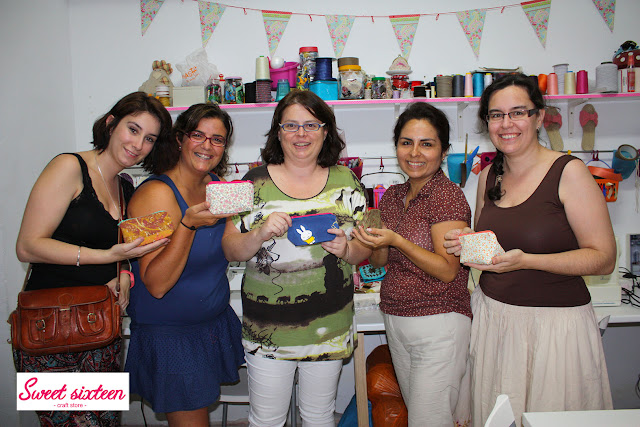 Taller Costura para Principiantes Sweet sixteen, craft store. Julio 2012. Madrid.