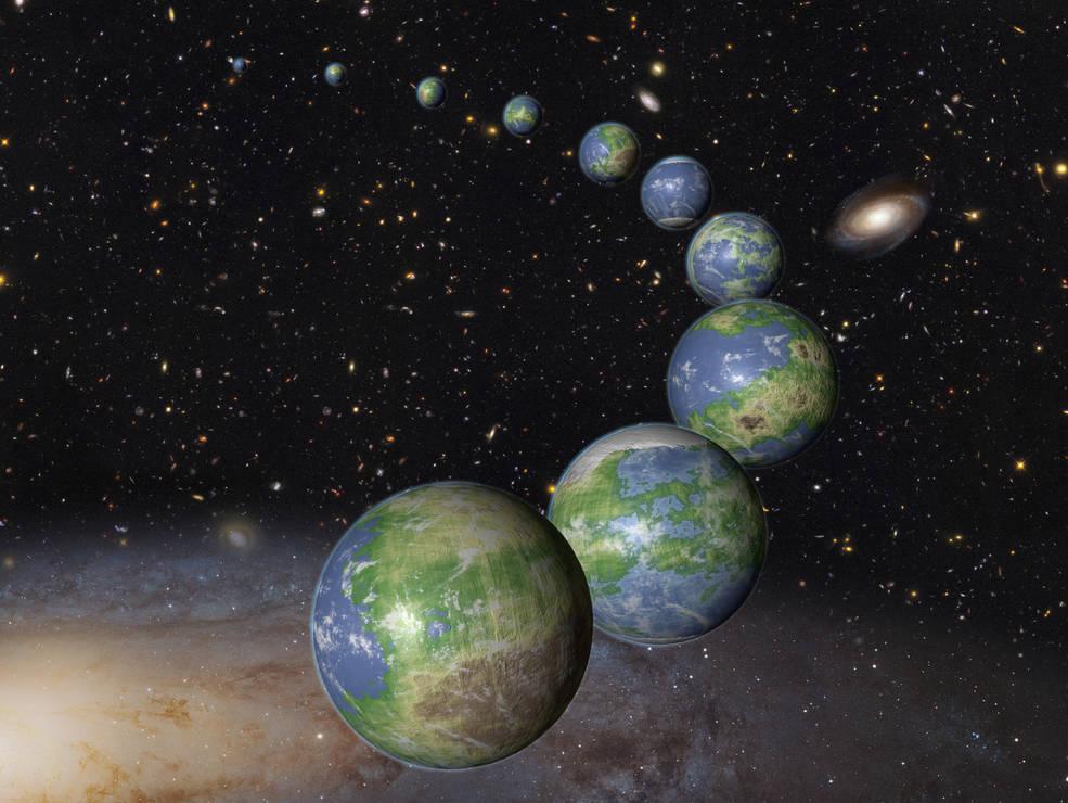 Los mundos parecidos al  nuestro todavía no han nacido.