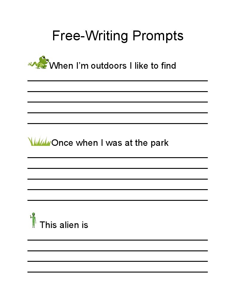5th grade creative writing prompts Here are 365 creative writing prompts to help inspire you this is very helpful and i've been finding a way to help improve my creative writing thank you very.
